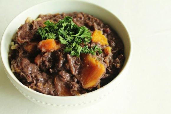 Adzuki Beans with Winter Squash from Lindsay Loves Veggies