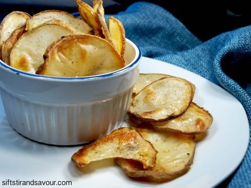 Homemade Oil-Free Potato Chips from Sift, Stir & Savour