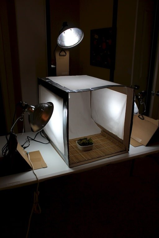 Homemade light box.