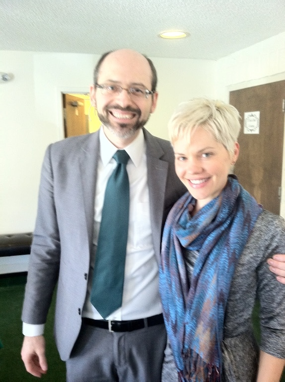 Dr. Michael Greger and Carrie.