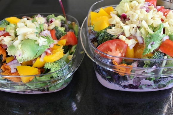 Salads to eat on the road.