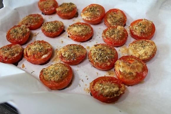Cheesy roasted tomato recipe