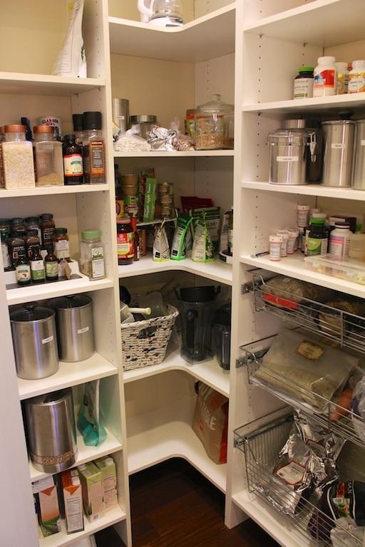 Carrie on Vegan kitchen pantry