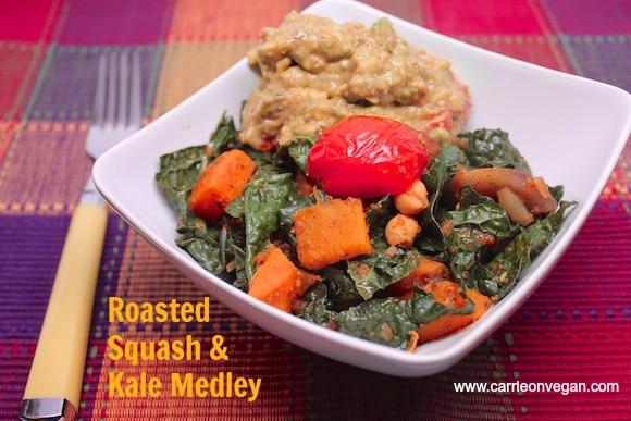 Roasted Squash & Kale Medley