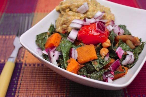 Squash & Kale Medley close up.