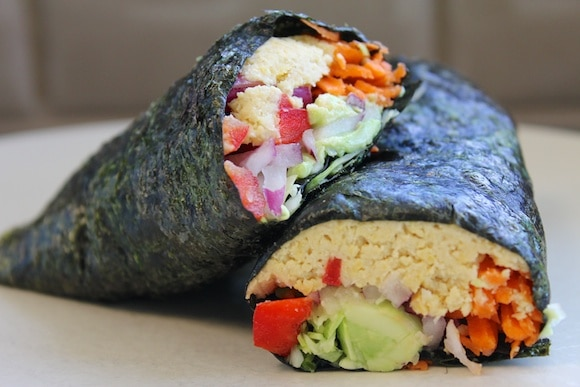 """California-Style"" Vegan Sushi Rolls from Carrie on Living"
