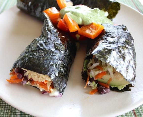 Vegan Sushi Rolls for lunch.