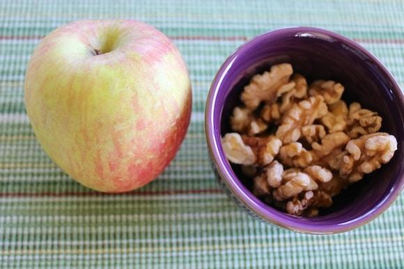 Apple and walnut dessert.