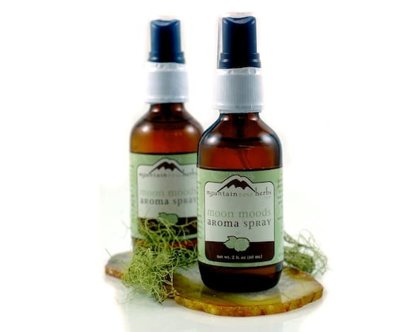 aroma spray bottles from Mountain Rose Herbs.
