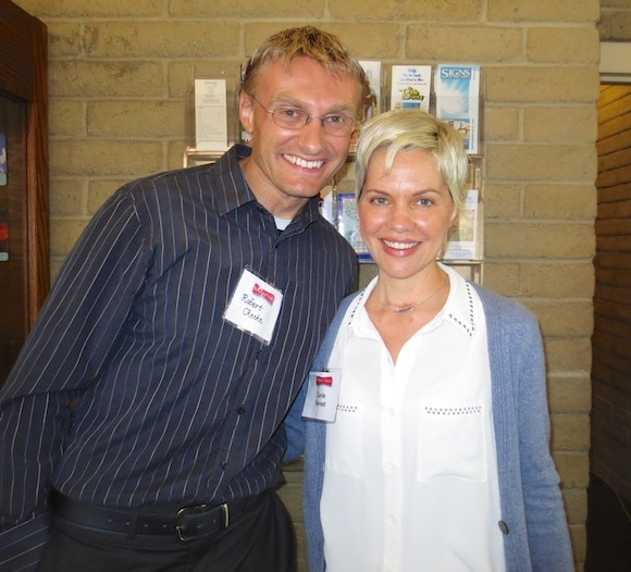 Robert Cheeke and Carrie at The Healthy Taste of Ventura