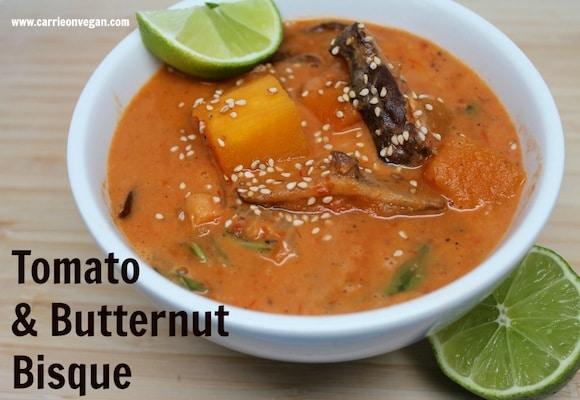 Vegan Tomato & Butternut Bisque