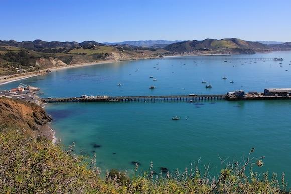 Avila Bay as seen from the Pecho Coast Trail.
