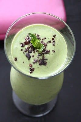 Mint Chip Protein Shake from Heather @ Sweetly Raw