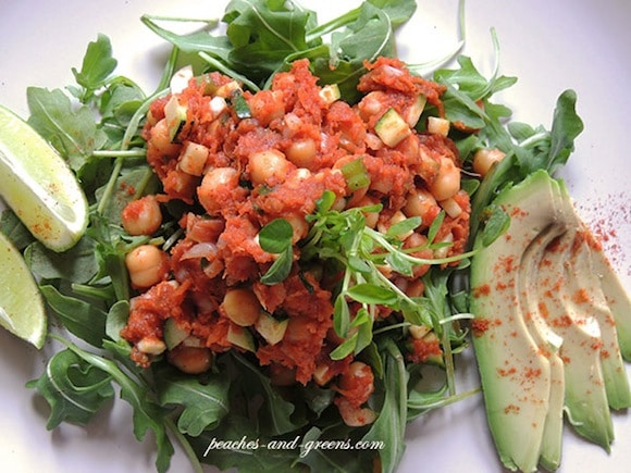 Sundried Tomato Chickpea Salad from Peaches and Greens