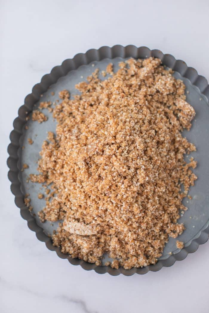 crust in a pie tin