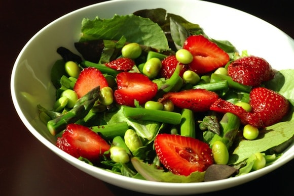 Asparagus, Strawberry and Basil Salad with Mosto Cotto from The Taste Space