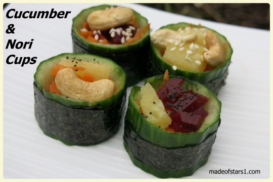 Cucumber and Nori Cups from Made of Stars