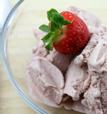 Strawberry & Vanilla Bean Nice Cream (Vegan, No Refined Sugar)