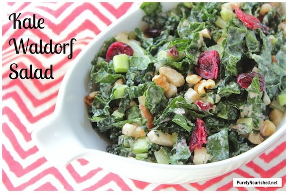 Kale Waldorf Salad from Purely Nourished