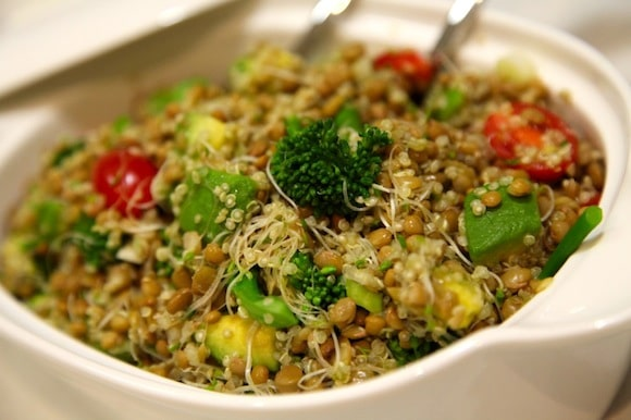 Lentil Salad with Avocado and Broccolini from The Apple Diaries