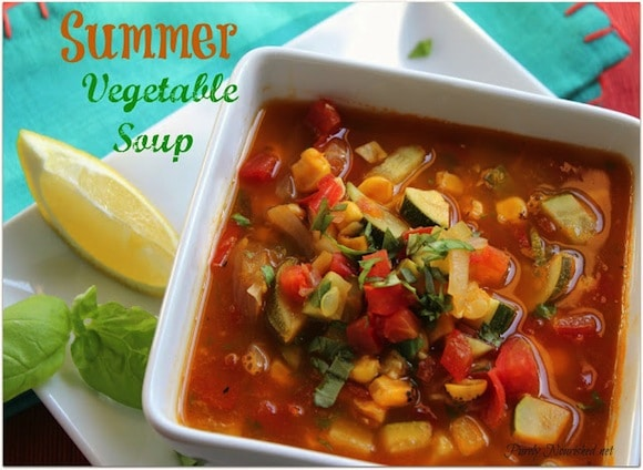 Summer Vegetable Soup from Purely Nourished