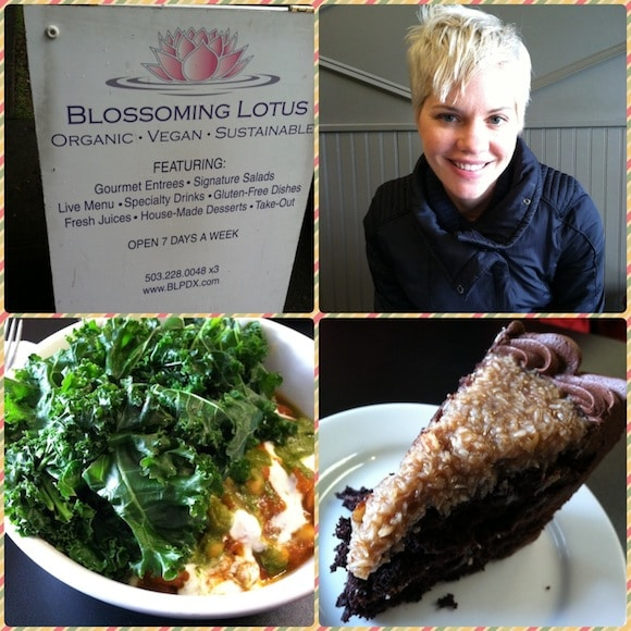 Pictures from lunch at Blossoming Lotus in Portland.