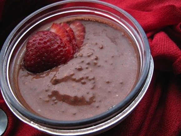 Chocolate-Covered Strawberry Chia Seed Pudding from The Veggie Nook