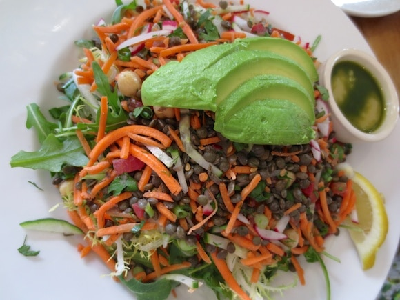 Organic Lentil & Avocado Salad at Le Pain Quotidien