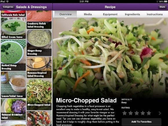 Micro-Chopped Salad on the iPad