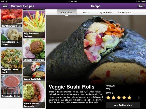 Veggie Sushi Rolls on Vegan Delish.
