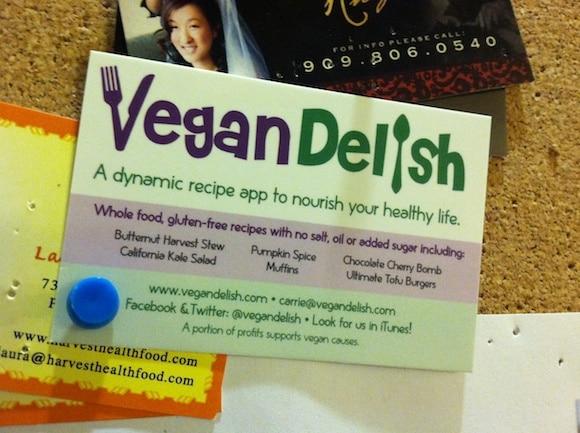 Vegan Delish at the gym!