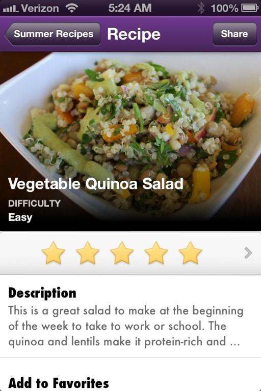 Vegetable Quinoa Salad on Vegan Delish.