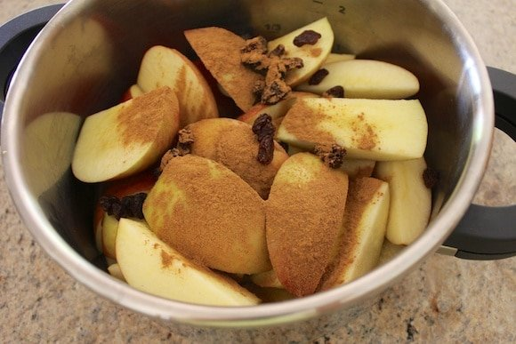 Ingredients for the filling for my apple pie.