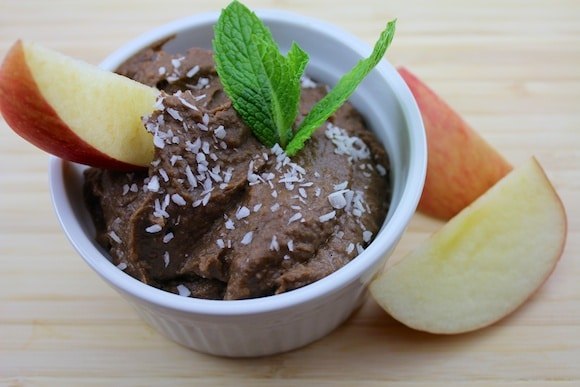 Chocolate Dessert Hummus from Carrie on Living | www.cleaneatingkitchen.com