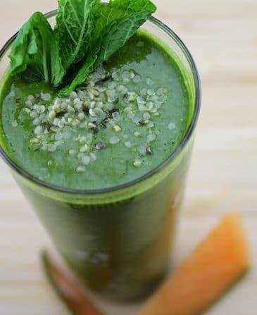 Cantaloupe Green Smoothie + Vegan Le Pain Quotidien