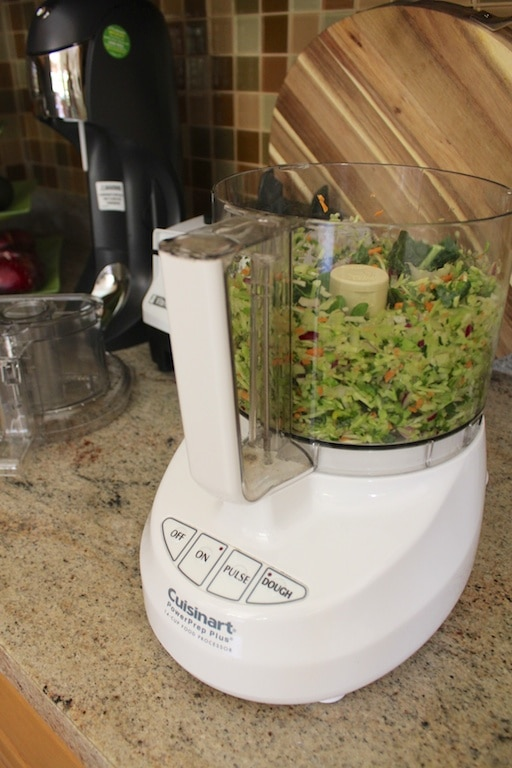 Micro-Chopped Salad white food processor