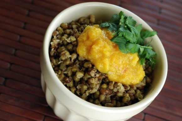 Indian Mung Beans with Fresh Mango Chutney from The Taste Space