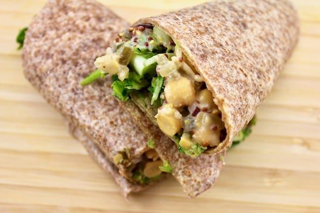 Mock Tuna Salad in a wrap