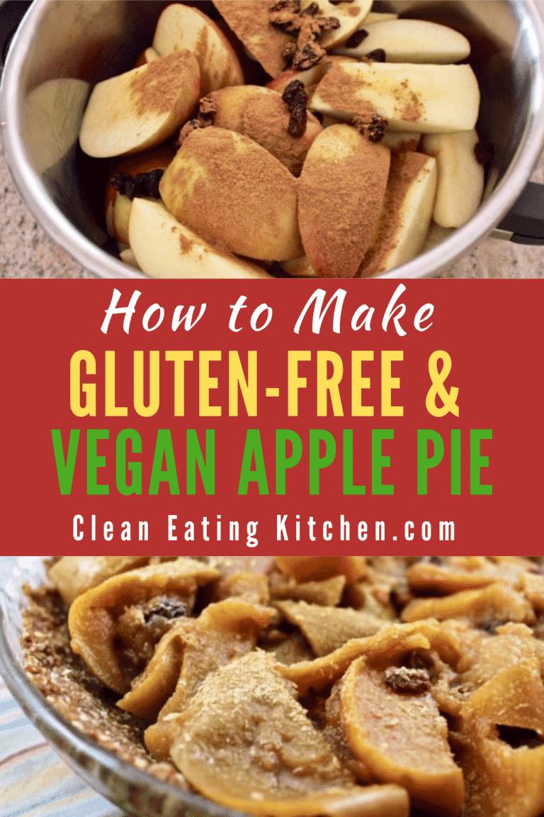 No-Bake Crust Vegan Apple Pie