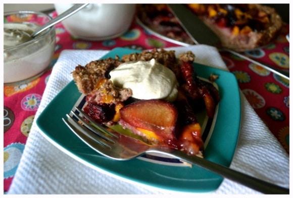 Plum & Mango Tart with Gluten-Free Crust from An Unrefined Vegan