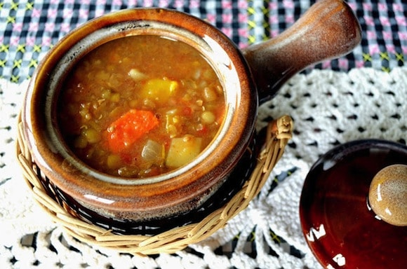 Vegetable Soup with Lentils from Woman in Real Life