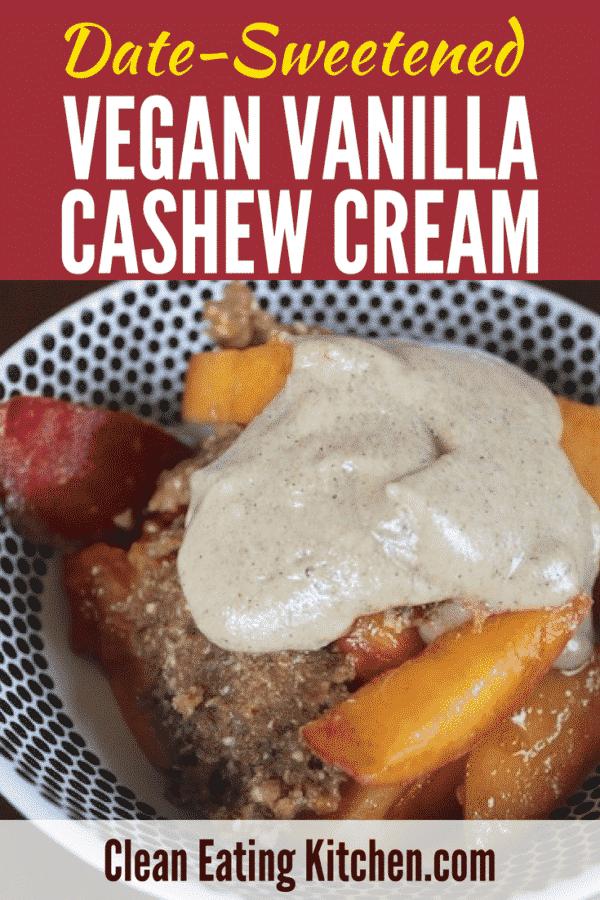 Date-Sweetened Vanilla Bean Cashew Cream
