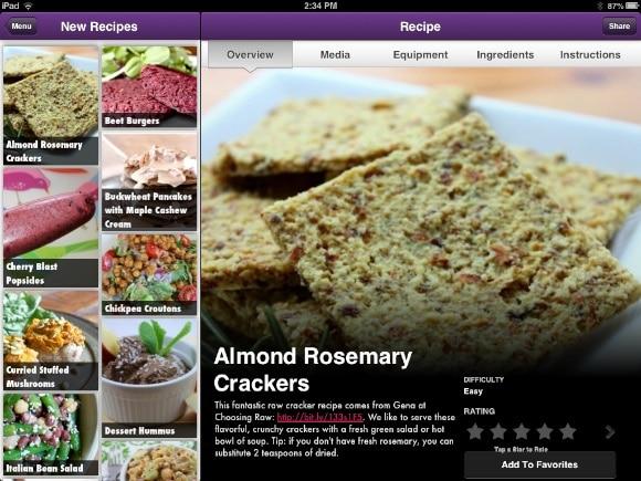 Almond Rosemary Crackers on Vegan Delish.