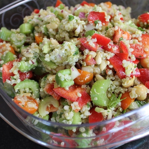 Vegetable Quinoa Salad from Carrie on Living | www.cleaneatingkitchen.com