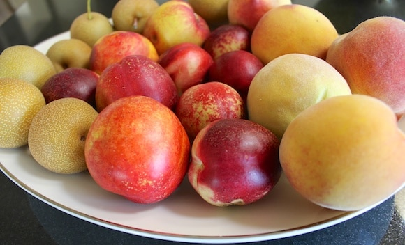Fresh fruits of summer.