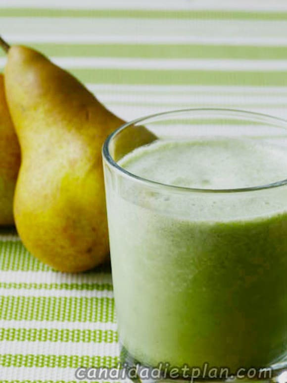 Iced Pear Protein Smoothie from Candida Diet Plan