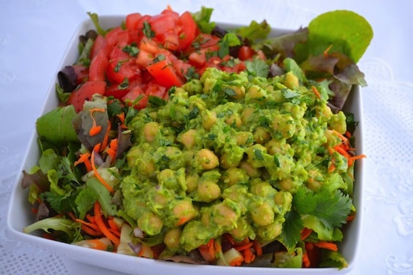 Loaded Guaco Garbanzo Salad from Gluten-Free Cat