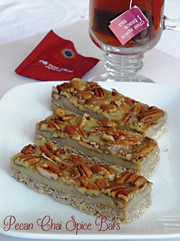 Pecan Chai Spice Bars from Vegan Heritage Press Blog