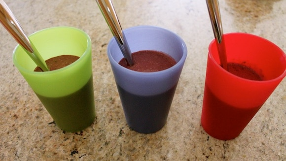 Popsicles made in cups