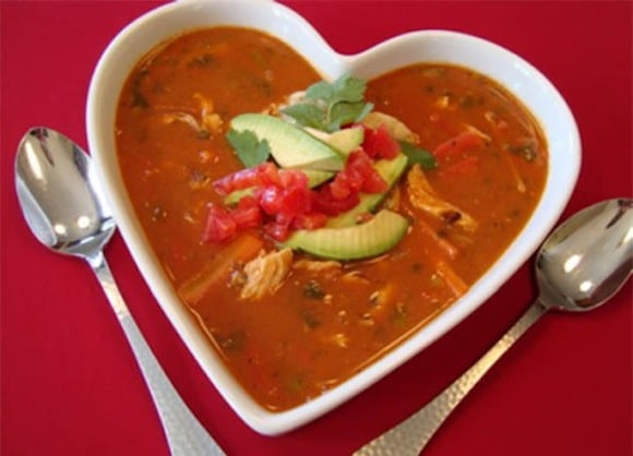 Vitamix Tortilla Soup from My Healthy Chef